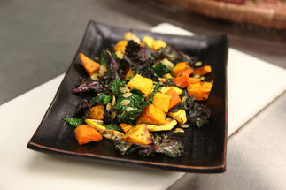 Roasted Root Vegetables and Winter Squash with Wilted Greens