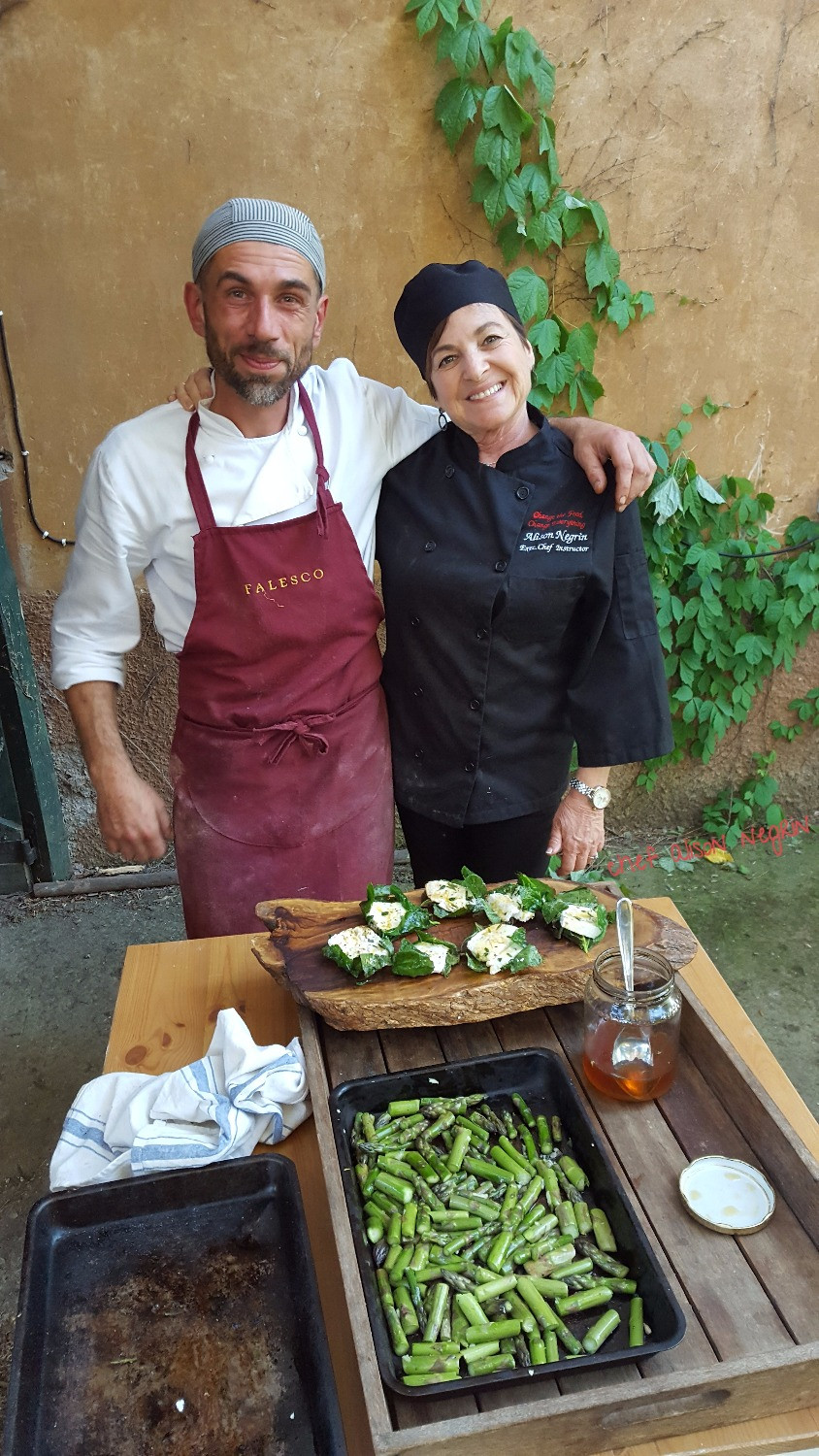 Chef Alison with house chef, Giorgio Castellani
