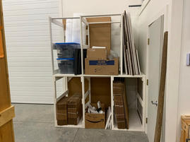 Storage unit for shipping materials