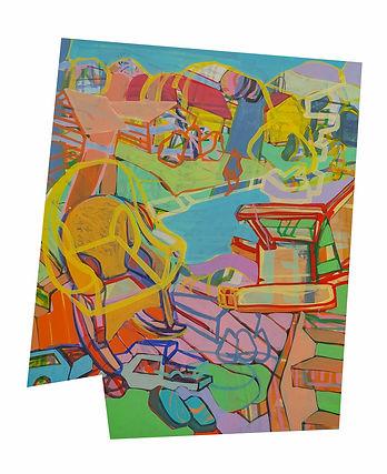 03-Element 3, 33x25.5, acrylic on panel,