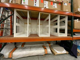 Vertical storage insert for industrial shelving unit