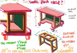 Work station design plan