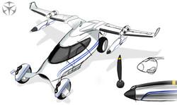 Terrafugia LM-X Flying Car Boceto