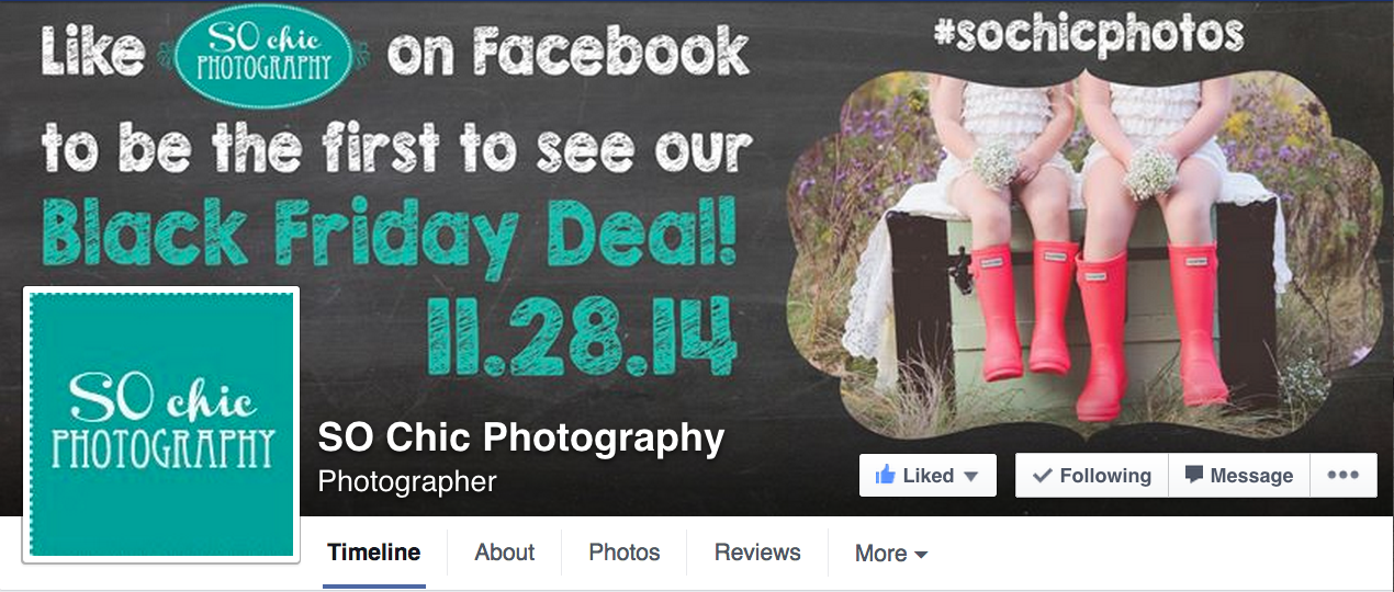 SO Chic Photography Promo Ad Design
