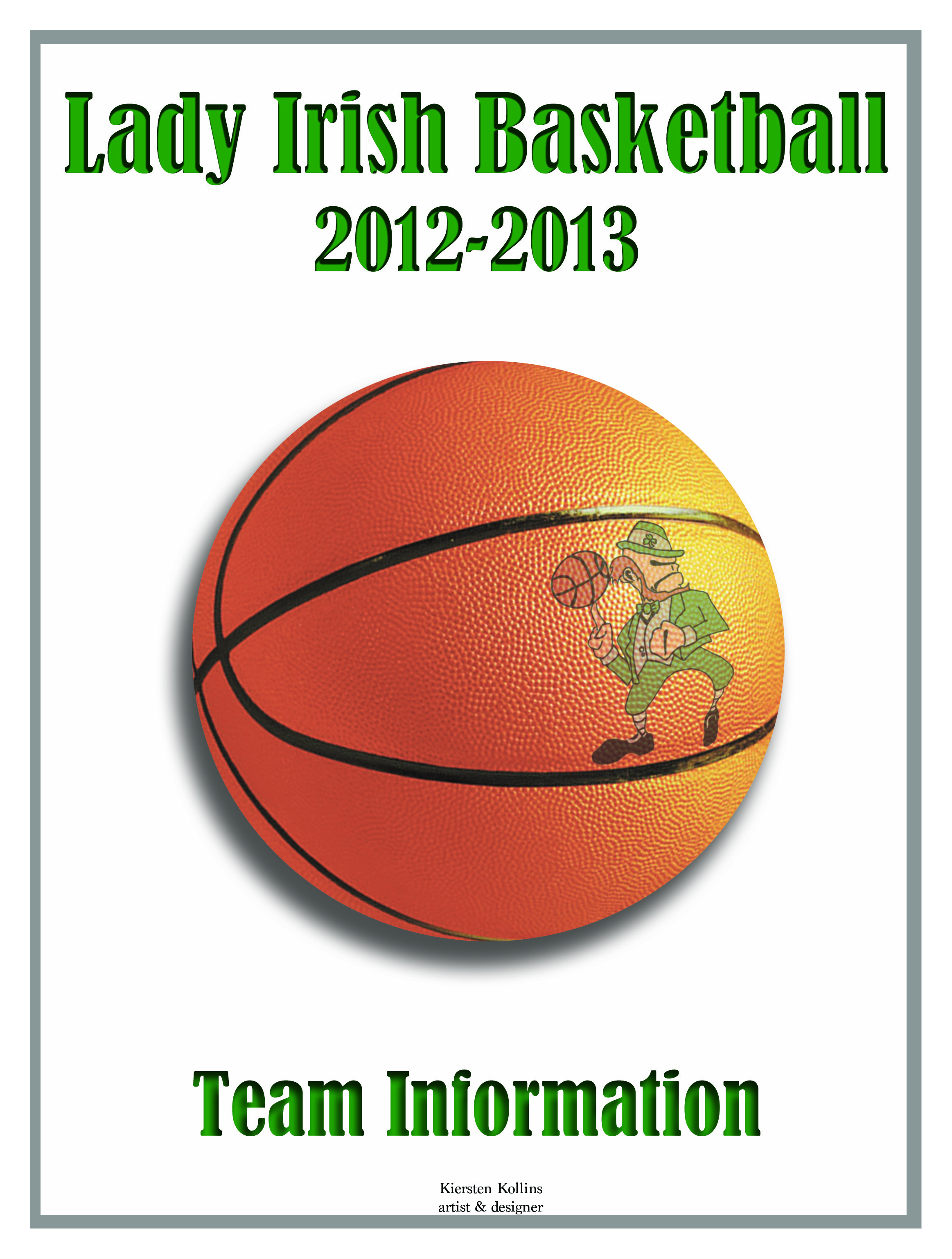 Lady Irish Basketball Book Cover '13