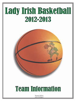 Lady Irish Basketball Book Cover '13