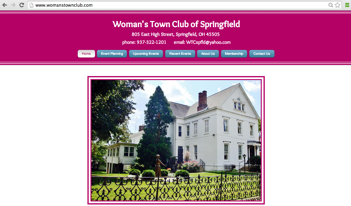 Woman's Town Club Website
