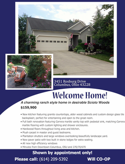 For Sale House Flyer - Front