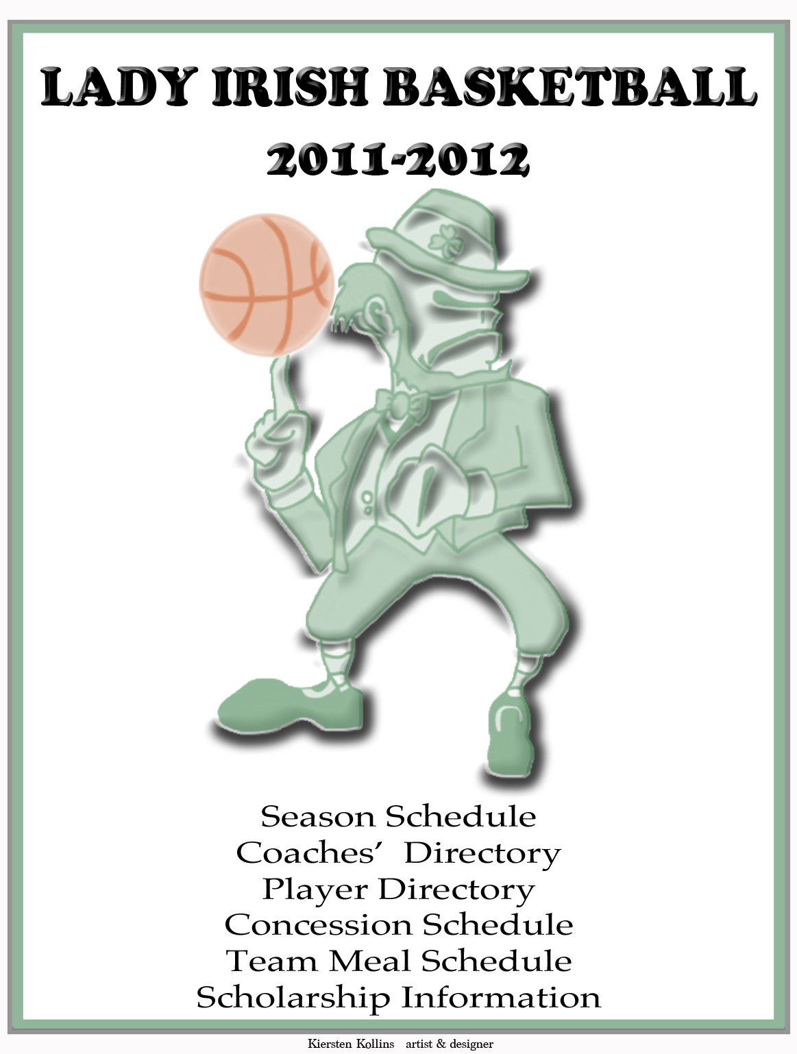 Lady Irish Basketball Book Cover '12