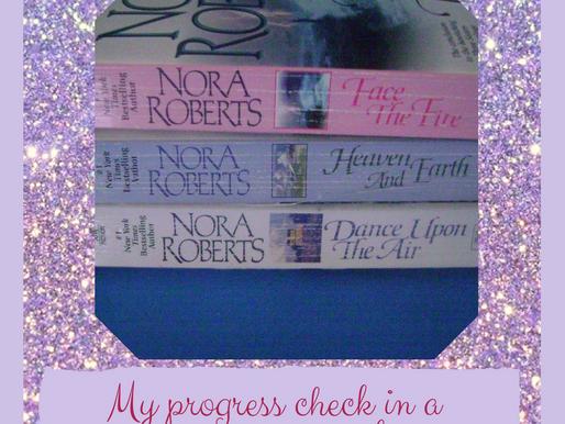 My progress check in a romance novel