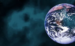Photograph of the Earth from space. Image courtesy of Wix.