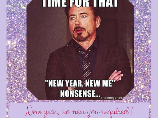 New Year, no new you required
