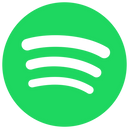 The logo for Spotify music streaming service