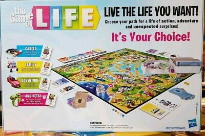 "Photo of the game of life, including ""Live the life you want! Choose your path for a life of action, adventure and unexpected surprises! Its your choice!"" Game of life courtesy of Hasbro, photograph courtesy of www.picclick.co.uk"