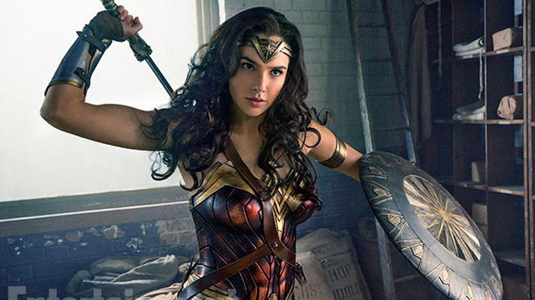 Gal Gadot as Wonder Woman (photo definitely not mine....)