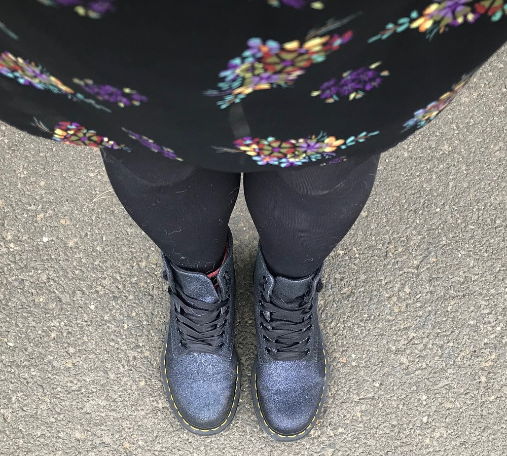 Sparkly boots might just be made for adventure!