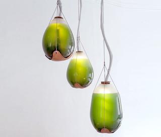 Innovation - Intérieur Ces lampes d'algues vivantes produisent de la lumière, de la chaleur, et