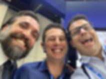Dr. Diogenes Silva, Dr. Eduardo Piccinini e Dr. Carlos Eduardo Martins
