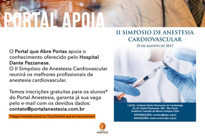 Portal Anestesia apoia II Simpósio de Anestesia Cardiovascular