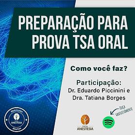 Podcast Preparação para prova tsa oral