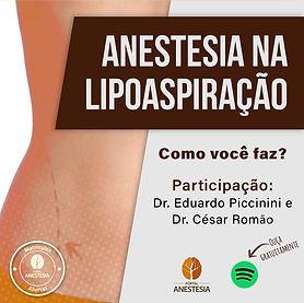 Podcast Anestesia na lipoaspiração