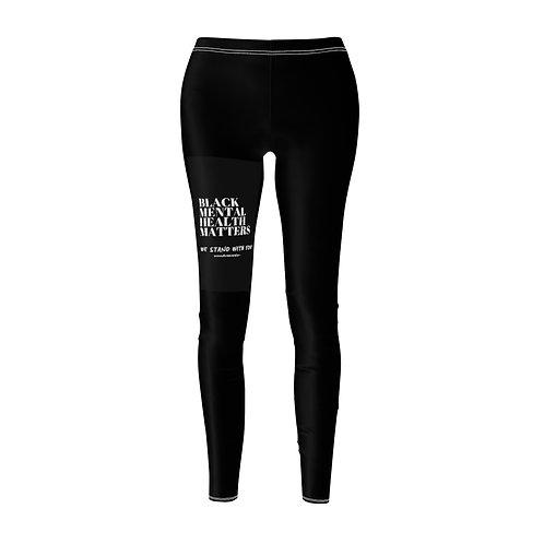 """""""BLACK MENTAL HEALTH MATTERS"""" - Women's Cut & Sew Casual Leggings"""