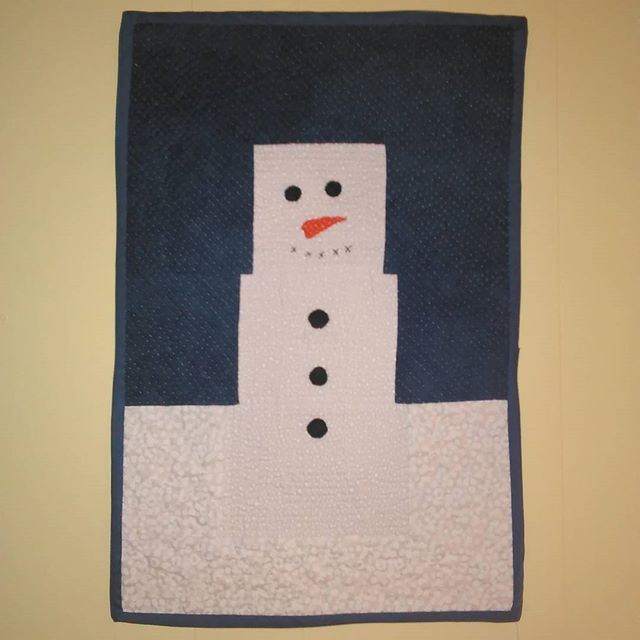 Marshy the Snowman won Third Place in the Christmas quilted wall hanging division of the 2017 Montgo