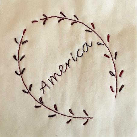 Embroidery Block: America
