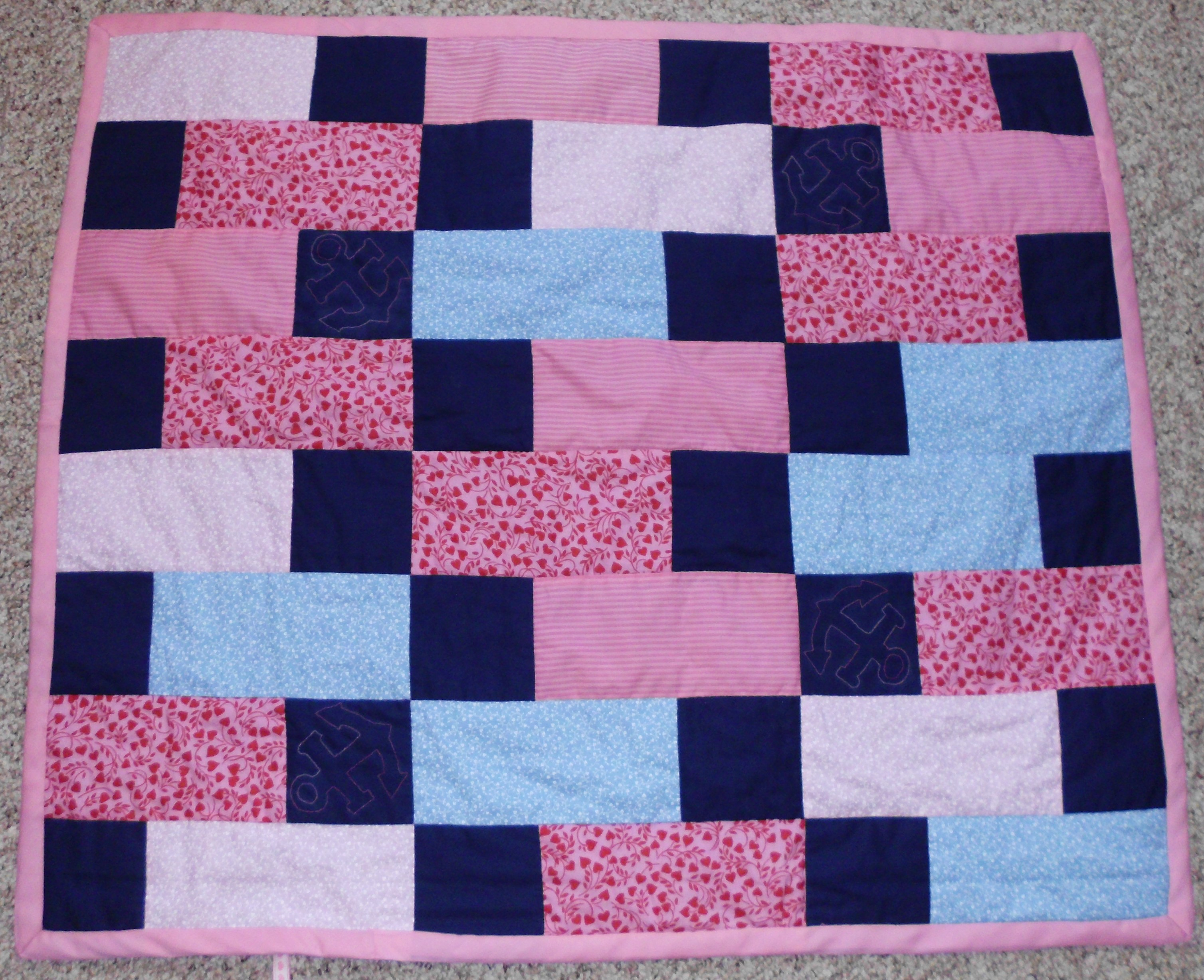 Anchors Away Baby Quilt