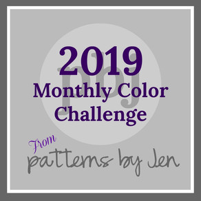 #2019 Monthly Color Challenge Finished!