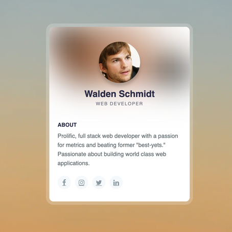 Create A Profile Card Design Using HTML & CSS