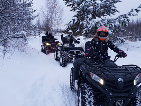 """Новогодние каникулы в Мотопарке """"Вельяминово"""": мотокросс, квадроциклы, снегоходы и отлично"""