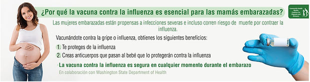 Pregnant Women protect yourselves and your babies by immunizing against Influenza in the state.