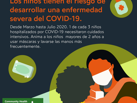 Do you know that children also have the risk to develop COVID-19.