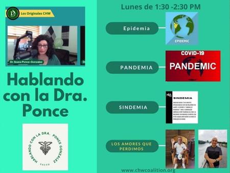 Epidemia, Pandemia, Sindemia y los Amores que Perdimos