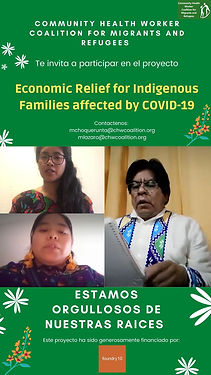 We are happy to announce our COVID-19 workshop  and economic relief for our Indigenous Communities.