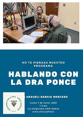 Listening Dr. Ponce-Gonzalez with Araceli Garcia y Rebeca Barrios de KDNA talking about opioids