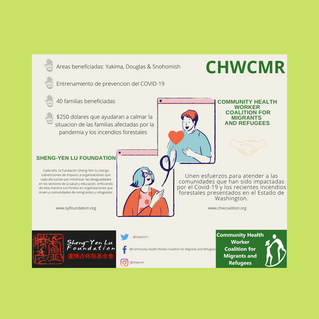 CHWCMR Training and Economic Relief for families affected by wild fire and COVID-19.