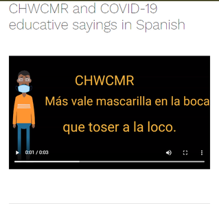 CHWCMR and COVID-19 educative sayings in Spanish
