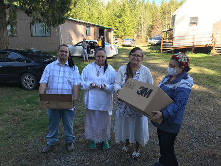 A chain of love from North Sound ACH to CHWCMR to South Upper Skagit Tribe.