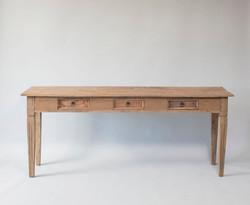 grey wood dessert table