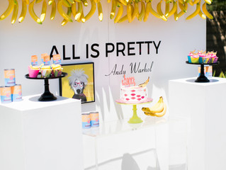 POP of color WARHOL Inspired PARTY