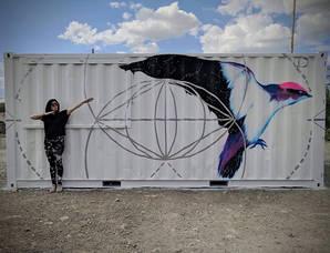 A Cosmic Bird for Burning Man camp. _