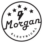 Morgan Electrical Logo Design copy white