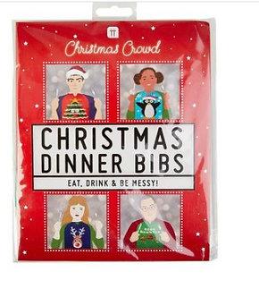 CHRISTMAS DINNER BIBS NAPKINS