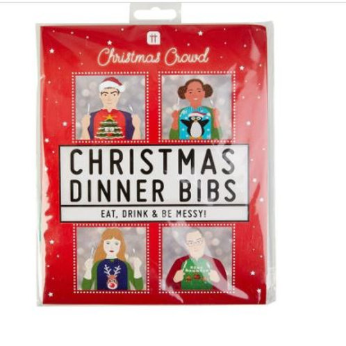 CHRISTMAS DINNER BIBS NAPKINS