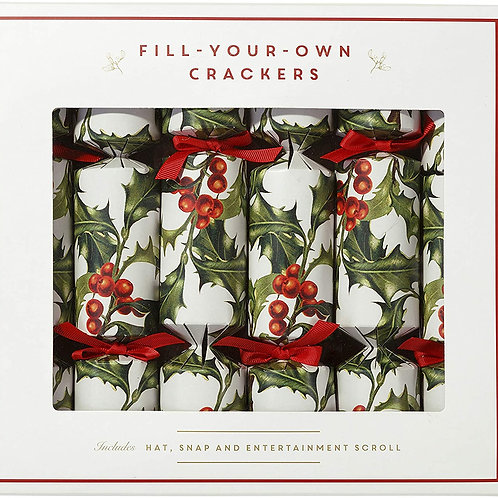 FILL YOUR OWN HOLLY CHRISTMAS CRACKERS