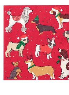 CHRISTMAS DOG NAPKINS