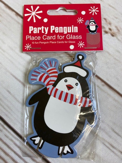 PENGUIN PLACE CARDS FOR GLASSES