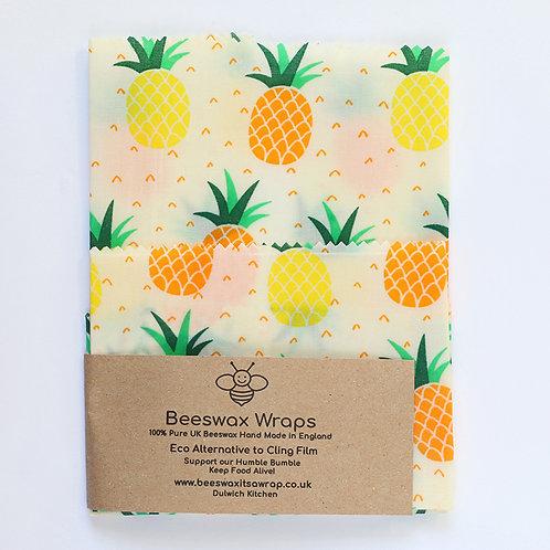 Set of 2 Beeswax Wraps -Pineapple